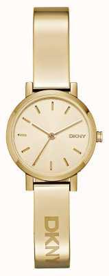 DKNY Pvd esfera redonda placa de oro Señoras soho NY2307