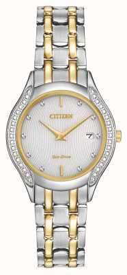 Citizen Ladies Eco-Drive 30 diamantes de dos tonos GA1064-56A