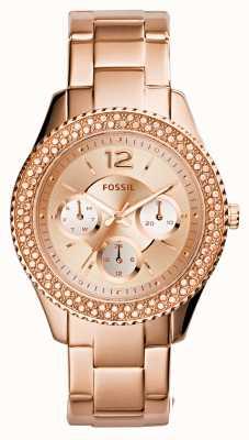 Fossil Señoras stella rosa plateado pvd oro ES3590