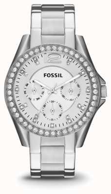 Fossil Señoras riley acero inoxidable ES3202