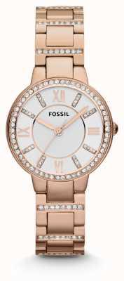 Fossil Mujeres Virginia rosa PVD chapado en oro ES3284