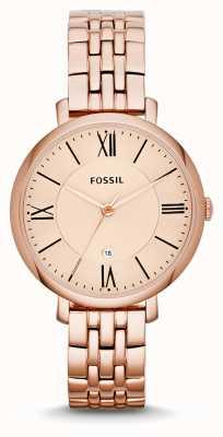 Fossil Señoras Jacqueline Rose plateado pvd oro ES3435