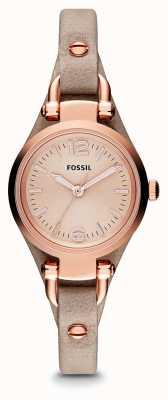 Fossil Señoras Georgia Rose PVD chapado en oro de cuero ES3262