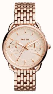 Fossil Mujeres sastre rosa PVD chapado en oro ES3713