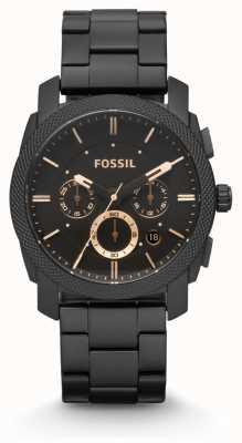 Fossil Máquina Caballeros pvd negro plateado FS4682