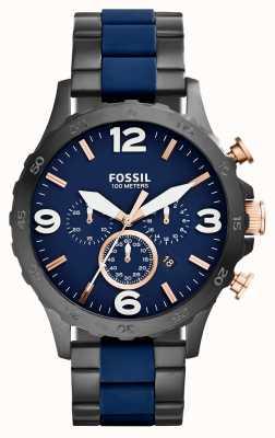 Fossil Mens nate cronógrafo reloj marino ip negro JR1494