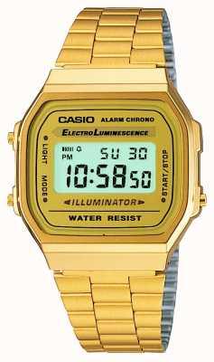 Casio Oro unisex plateado colección digital retro A168WG-9EF