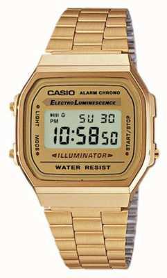 Casio Colección digital retro chapada en oro unisex A168WG-9EF