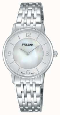 Pulsar Señoras madre de acero inoxidable de la línea de perlas PRW025X1
