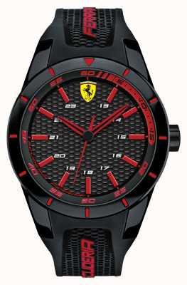 Scuderia Ferrari Rojo rev negro correa de silicona negro esfera roja 0830245