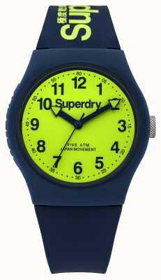 Superdry Línea verde correa de caucho azul urbana Caballeros SYG164UN