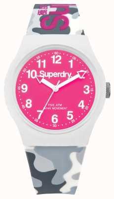Superdry Caballeros camuflaje urbano de línea correa de color rosa SYG164EP
