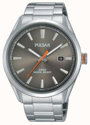 Pulsar Para hombre reloj de plata de acero inoxidable PS9381X1