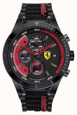 Scuderia Ferrari Evo rev Red de silicona negro negro esfera roja 0830260