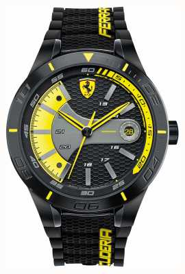 Scuderia Ferrari Rojo rev evo negro de silicona negro amarillo dial 0830266