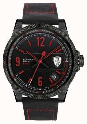 Scuderia Ferrari Italia Fórmula correa negro esfera de color negro 0830271