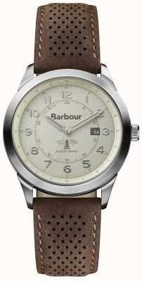 Barbour Correa de cuero marrón para hombre caminante BB017CPBR