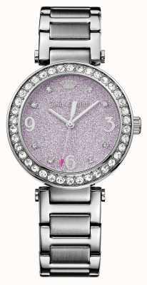 Juicy Couture Para mujer esfera de color rosa brillo de acero inoxidable cali 1901327