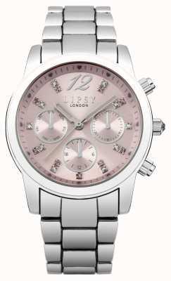 Lipsy Womens línea brazalete rosa de acero inoxidable LP390