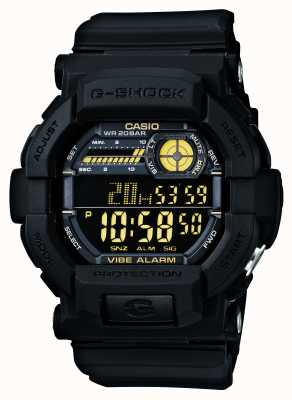 Casio G-shock vibrating 5 reloj despertador negro amarillo GD-350-1BER