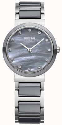 Bering Womens cerámica gris acero inoxidable 10725-789