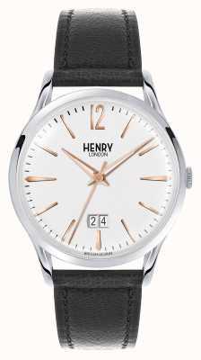 Henry London Esfera blanca de cuero marrón de Highgate HL41-JS-0067