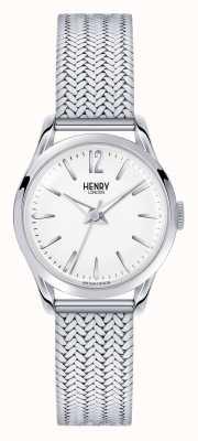Henry London Esfera blanca de acero inoxidable Edgware HL25-M-0013