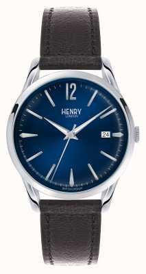 Henry London Dial azul de Knightsbridge - como se ve en la televisión HL39-S-0031