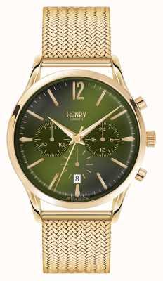 Henry London Chiswick chapado en oro de malla cronógrafo HL41-CM-0108