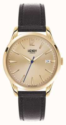 Henry London Westminster marrón correa de cuero champán HL39-S-0006