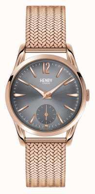 Henry London Finchley acoplamiento de Rose de oro esfera gris HL30-UM-0116