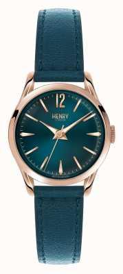 Henry London Esfera azul correa de cuero azul Stratford HL25-S-0128