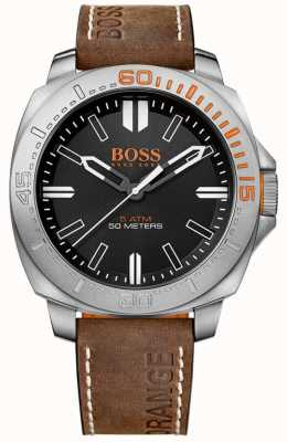 Hugo Boss Orange Caballeros sao paulo reloj correa de cuero marrón 1513294