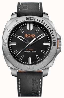 Hugo Boss Orange Caballeros sao paulo reloj correa de cuero negro 1513295