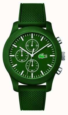 Lacoste Para hombre de línea verde correa de caucho verde 12.12 crono 2010822