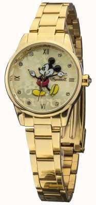 Disney By Ingersoll Womens oro clásico PVD chapado pulsera DIN005GDGD