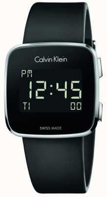 Calvin Klein Futuro unisex correa de caucho negro digitales K5C21TD1