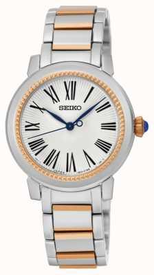 Seiko Para mujer esfera blanca pulsera de dos tonos SRZ448P1