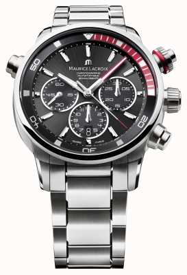 Maurice Lacroix Mens reloj analógico automático lienzo negro PT6018-SS002-330-1