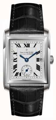 Dreyfuss Para hombre de cuero negro reloj de plata de la correa DGS00140/06