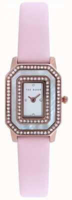 Ted Baker Para mujer de línea piedra conjunto correa de cuero de color rosa TE10023480