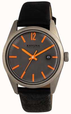 Kahuna Mens dial negro correa negro KUS-0122G