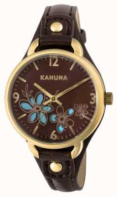 Kahuna Womens esfera marrón correa marrón KLS-0308L