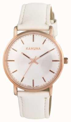 Kahuna Womens esfera blanca correa blanca KLS-0324L