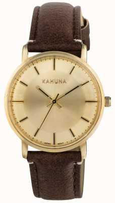 Kahuna Womens dial de Champagne correa marrón KLS-0326L