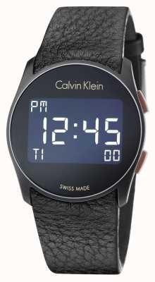 Calvin Klein Futuro unisex correa de cuero negro digitales K5B13XC1