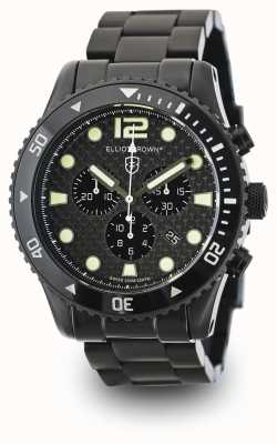 Elliot Brown Mens bloxworth PVD negro plateado esfera de carbono 929-002-B03