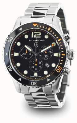 Elliot Brown esfera de color negro de acero inoxidable para hombre bloxworth 929-005-B01