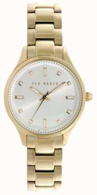 Ted Baker Mujeres pvd oro plateado esfera de plata TE10025273