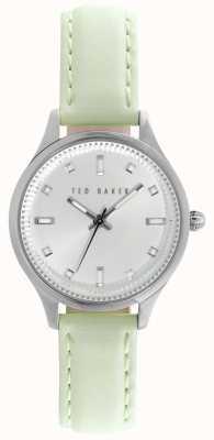 Ted Baker Cuero verde de línea correa de plata de cal para mujer TE10025268